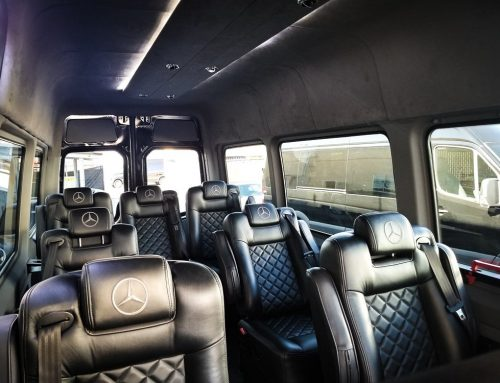 Our new 9 Passenger Sprinter Van perfect for family vacations.